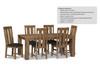 ASHTON (VAN-010) 9 PIECE DINING SETTING  - 2200(W)  x 1000(D) - LIGHT OAK