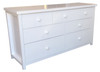 FEDERATION LOWBOY WITH 7 DRAWERS -790(H) X 1500(W)- WHITE