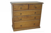 CRONULLA (CR3441) 5 DRAWER SPLIT TOP TALLBOY - 950(H) X 900(W) - BALTIC , WALNUT OR GREYWASH (PICTURED)