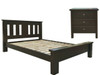 EMERALD QUEEN 3 PIECE   BEDSIDE BEDROOM SUITE - WENGE