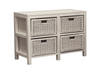 FERNARY (SB 004 RT ) RATTAN STORAGE UNIT WITH 4 DRAWERS - WHITE