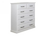 JINDABYNE 6 DRAWER  TALLBOY  1130(H) x 900(W) - WHITE