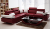 GORICA 5 SEATER CORNER LOUNGE SUITE WITH MATCHING COFFEE TABLE (K5009B) - CHOICE OF LEATHER AND ASSORTED COLOURS AVAILABLE