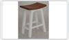 LATSON 2-TONE WOODEN BAR STOOL / KITCHEN BENCH (BR067WD) - SEAT: 670(H) - WHITE / CARAMEL