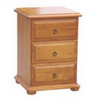 AVONDALE 3 DRAWER BEDSIDE TABLE - CHESTNUT OR WALNUT