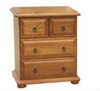 AVONDALE 4 DRAWER SPLIT - TOP  BEDSIDE TABLE - CHESTNUT OR WALNUT