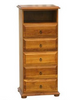 ROSEDALE 1380(H)  5 DRAWER LINGERIE CHEST WITH VIDEO SHELF   -  CHESTNUT OR WALNUT