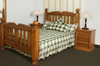 KING BORON BED (MODEL - 23-9-14-38-5-19-12-5-18)  - CHESTNUT OR WALNUT