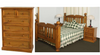 BORON QUEEN 4  PIECE TALLBOY  BEDROOM SUITE (MODEL - 23-9-14-38-5-19-12-5-18)  - CHESTNUT OR WALNUT