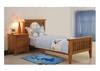 SINGLE  DAKOTA   BED  ( MODEL - 4-5-22-15-14-16-15-18-19)  - CHESTNUT OR WALNUT