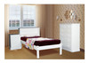 SINGLE BOOKEND DELUXE BED - WHITE, ANTIQUE WHITE, WHITEWASH & BRUSHED COLOUR OPTIONS