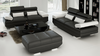 GORICA (K5009E) 3 SEATER + 2  SEATER + 1 SEATER    - CHOICE OF LEATHER AND ASSORTED COLOURS AVAILABLE