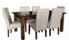 ASIDA  7 PIECE  DINING SETTING - 1800(W) X 1050(D) - (MODEL - 2-21-3-3-15-12-9-3 7PC) -  RUSTIC