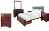 FABULOS  KING 6 PIECE (THE LOT)  BEDROOM SUITE  ( MODEL-16-9-14-14-1-3-12-5 ) - HAZELNUT