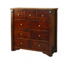 FABULOS 9 DRAWER TALLBOY  ( MODEL-16-9-14-14-1-3-12-5 )  -1195(H) X 1200(W)- HAZELNUT