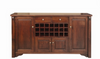 FABULOS 4 DOOR 2 DRAWER BUFFET  - 21 BOTTLE WINE RACK  -1015(H) X 1980(W) -  (MODEL-16-9-14-14-1-3-12-5) - 1980(W)- HAZELNUT