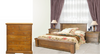 DONSILIA  QUEEN 4 PIECE TALLBOY BEDROOM SUITE  ( MODEL- 11-1-11-1-4-21 ) - RUSTIC