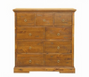 DONSILIA  9  DRAWER TALLBOY ( MODEL- 11-1-11-1-4-21 )  -1200(H)X1200(W)- RUSTIC