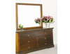 DONSILIA  6 DRAWER DRESSER WITH MIRROR ( MODEL- 11-1-11-1-4-21 )  - 800(H) X 1400(W) -  RUSTIC
