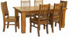 DONSILIA  7 PIECE DINING 6x3 SETTING - 1800(L) X 900(W) -  ( MODEL- 11-1-11-1-4-21 )  - RUSTIC