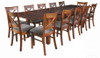 DUOLYN  EXTENSION  DINING TABLE   ONLY - 2370(L) X 1000(W) - (MODEL16-1-18-1-13-15-21-914-20) - WARM TEAK