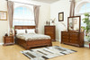 KARRIE (603)  QUEEN 5 PIECE DRESSER BEDROOM SUITE (MODEL 11-1-18-5-14) - CHERRY