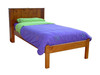 KING SINGLE BOOKEND DELUXE BED - ASSORTED COLOURS