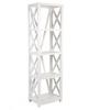 X  STYLE CROSSED BOOKCASE  (DET633L)  -  1700(H) X 500(W) - WHITE