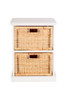 BALINESE CANE STORAGE DRAWERS (DET702) WITH 2 DRAWERS - WHITE