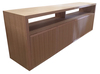 MACQUARIE 4 DOOR TV UNIT - TASSIE OAK COMBINATION -700(H) x 2000(W) - ASSORTED TIMBER COLOURS