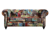 SOLOMONIA  TWO SEATER (2S)   FABRIC   LOUNGE -  (MODEL - 12-15-21-9-19-91-14-1) - PATTERN