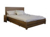 QUEEN LOS ANGELES BED WITH UNDERDRAWER -  BLACKWOOD OR WENGE