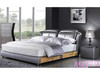 QUEEN  EVANS   LEATHERETTE BED WITH  2 UNDERBED DRAWERS  (MODEL A9372)  - ASSORTED COLOURS
