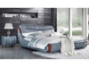QUEEN AUBREE  LEATHERETTE  BED  (MODEL - A9367) - ASSORTED COLORS  (MADE TO ORDER)
