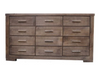 RUSTIC  12 DRAWER CHEST (RT12DCH)-910(H) x 1620(W)