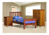 SINGLE FEDERATION (AUSSIE MADE) BED WITH 2 RAILED FOOT END - ASSORTED COLOURS