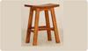 LATSON WOODEN BAR STOOL / KITCHEN BENCH (BR077WD) - SEAT: 770(H) - CARAMEL
