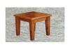 DROVER LAMP TABLE - 650(W) x 650(D) - RUSTIC BLACKWOOD