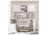 ISABELLA / MACKENZIE (LS-023) DESK INCLUDING HUTCH -1208(W) X 580(D) - (MODEL 4-1-22-9-14-3-9) - IVORY WHITE