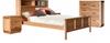 TREASURE (3550)  2 DRAWERS BEDSIDE TABLE (20-1-18-1)- LIGHT OAK