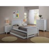 EMPRESS SINGLE 3 PIECE HARDWOOD / MDF BEDROOM SUITE (WITH TRUNDLE) - (2-18-15-4-9-5) - WHITE