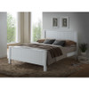 EMPRESS DOUBLE OR QUEEN 6  PIECE HARDWOOD / MDF (THE LOT)  BEDROOM SUITE (2-18-15-4-9-5) - WHITE