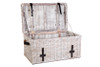 DIDI RATTAN TRUNK WITH LEATHER STRAP (DET7923L) - KUBU GREY WHITE WASH