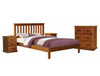 DOUBLE BENDEL BED -( 2-18-9-19-2-1-14-5) - ANTIQUE OAK