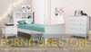 ENDLESS SINGLE OR KING SINGLE 3 PIECE BEDROOM SUITE WITH JESSICA CASE GOODS ( 3-8-12-15-5) - BRIGHT WHITE