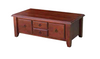 DEEONE  COFFEE TABLE WITH FOUR DRAWERS / TAPERED  LEGS - 1200(W) x  630(D)- WALNUT OR BLACKWOOD