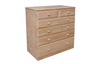"36""  6  DRAWERS TOP SPLIT  CHEST  1150(H) - 12"" BOTTOM - 1150(H) X 900(W)-STAINED"