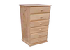 "A 24 ""  6 DRAWERS CHEST  -1330(H) X 600(W) - STAINED"