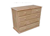 """A 36 """"  5 DRAWERS TOP SPLIT CHEST  920(H) X 910(W)  - STAINED"""