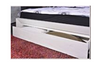GEOLAND QUEEN 3 PIECE  BEDSIDE BEDROOM SUITE WITH FOOTEND STORAGE DRAWER (MODEL 13-1-18-22-9-14) -WHITE